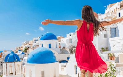 vrouw op vakantie