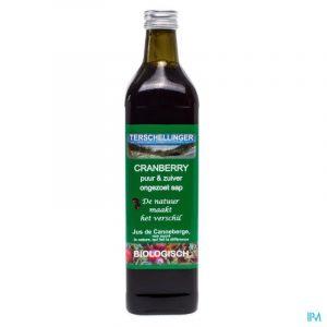 bouteille de jus de canneberge metagenics