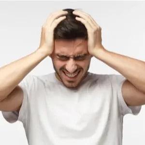 homme stressé
